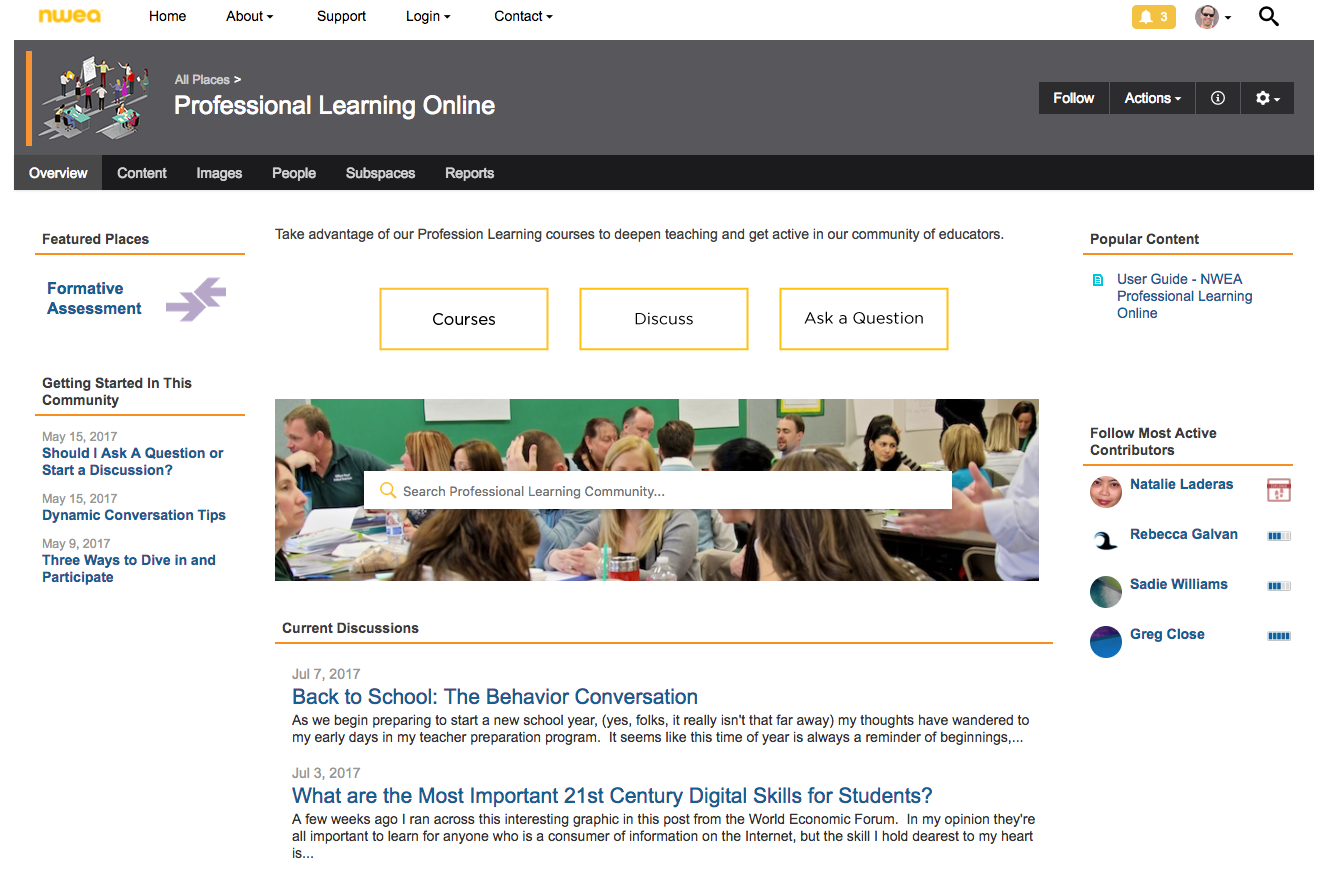 Professional Learning Online Home
